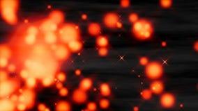 Heiße Magmapartikel Schleife stock footage