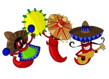 Heiße mexikanische Paprika-Pfeffer Lizenzfreies Stockfoto
