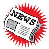 Heiße Nachrichten lizenzfreie abbildung