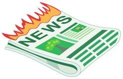 Heiße Nachrichten/letzte Nachrichten Stockbild