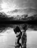 Heiße nasse Paare Lizenzfreie Stockbilder