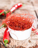 Heiße Paprika-Schnüre Stockfotos