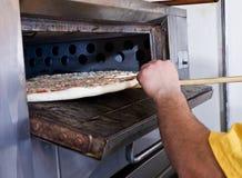 Heiße Pizza Stockfoto