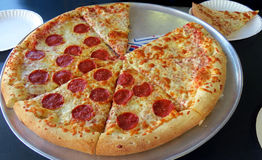 Heiße Pizza Lizenzfreies Stockbild