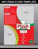 Heiße Pizzafliegerschablone Lizenzfreie Stockbilder