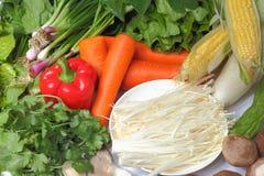 Heiße Potenziometerbestandteile des Gemüses Stockbild