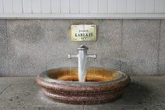 Heiße Quelle in Karlovy Vary lizenzfreie stockfotografie
