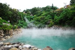 Heiße Quelle in Taipeh Stockfoto