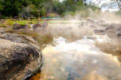 Heiße Quelle in Thailand Stockfotografie