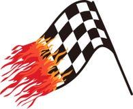 Heiße Rennflagge Lizenzfreies Stockbild