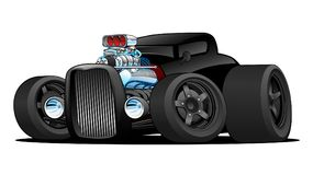 Heiße Rod Vintage Coupe Custom Car-Karikatur-Vektor-Illustration Stockbild