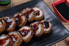 Heiße Rolle der japanischen Sushi Stockfoto