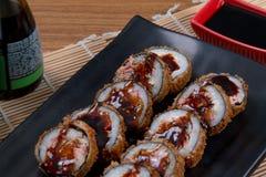 Heiße Rolle der japanischen Sushi Stockbild