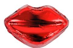 Heiße rote Lippen Lizenzfreie Stockfotos