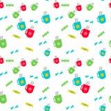 Heiße Schalen und süßes Süßigkeitsmuster stock abbildung