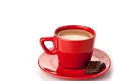 Heiße Schokolade auf Weiß Stockbilder