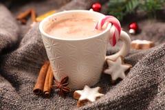 Heiße Schokolade für Weihnachten stockbilder