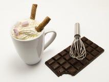 Heiße Schokolade Getränk mit fester Schokolade Stockfotografie