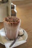 Heiße Schokolade mit Eibisch Stockfotografie