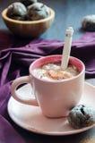 Heiße Schokolade mit Eibisch Lizenzfreie Stockbilder
