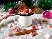 Heiße Schokolade mit Eibischen Lizenzfreie Stockfotos