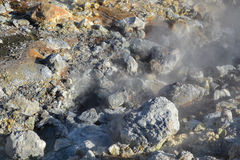 Heiße Schwefelfrühlinge Stockfoto