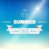 Heiße Sommer Sun-Vektor-Hintergrund-Illustration Lizenzfreie Stockfotos