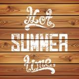 Heiße Sommerzeit Kalligraphisches handgeschriebenes Lizenzfreie Stockfotos