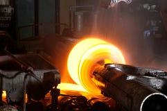 Heiße Stahlrolle Stockfoto