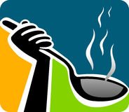 Heiße Suppe Stockbild