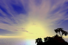 Heiße tropische Kokosnuss-Palmen Lizenzfreies Stockfoto