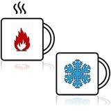 Heiße und kalte Getränke Lizenzfreie Stockfotos