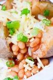 Heiße und knusperige gebackene Kartoffel Lizenzfreie Stockfotos