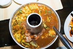 Heiße und saure Suppe der Garnele Lizenzfreies Stockfoto