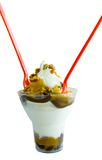 Heiße Unsinn-Eiscremebecher-Eiscreme stockbilder