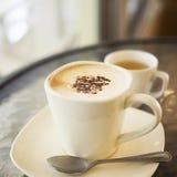 Heißer Cappuccino f Stockfoto