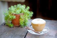 Heißer Cappuccino-Kaffee Stockfoto