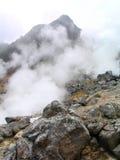 Heißer Dampf durch geothermisches Lizenzfreie Stockfotografie