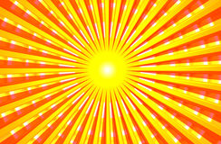 Heißer glänzender Sommer Sun Lizenzfreie Stockbilder