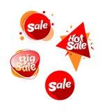 Heißer großer roter orange Vektor des Verkaufs Lizenzfreie Stockfotos