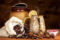 Heißer Hagebuttentee gegen Grippe Haupttiefkühlen Getrocknete Vitamine Traditionelle Volksmedizin stockfotografie