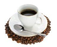 Heißer Kaffee. Lizenzfreie Stockfotografie