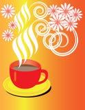 Heißer Kaffee-Blumenstrauß stock abbildung