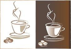 Heißer Kaffee, der Dampf freigibt vektor abbildung
