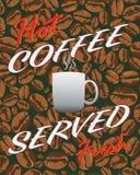 Heißer Kaffee frisches gedient Stockfoto