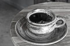 Heißer Kaffee Schwarzweiss Lizenzfreie Stockbilder