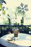 Heißer Kaffee und Mischungskaffee Stockfotografie