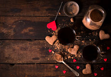 Heißer Kakao und Plätzchen Stockfoto