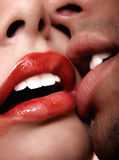 Heißer Kuss Stockbild