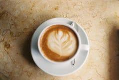 Heißer Latte'-Kaffee Lizenzfreies Stockfoto